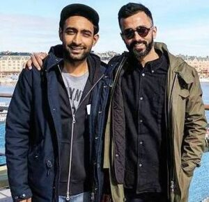 Anand Ahuja with his brother Anant