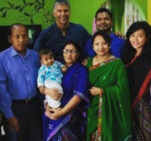 Ankita Konwar with her family