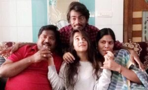 Deepthi Sunaina with her family