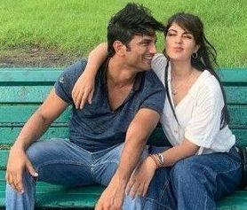Sushant Singh Rajput with his girlfriend Rhea