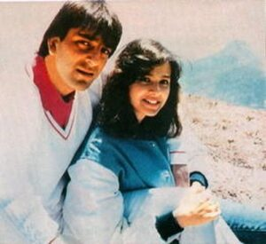 Sanjay Dutt with his ex-wife Richa