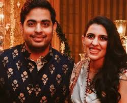 Shloka Mehta with her husband