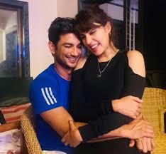 Rhea Chakraborty with her boyfriend Sushant