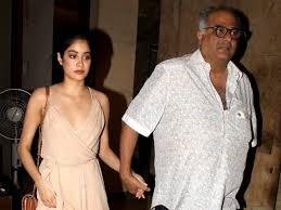 Jhanvi Kapoor with her father