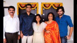 Ram Pothineni with his family