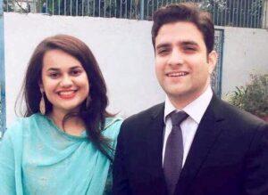 Tina Dabi with her husband