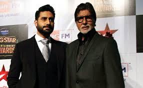 Amitabh Bachchan with his son Abhishek