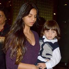 Suhana Khan with her brother Abram
