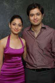 Tamannaah Bhatia with her brother