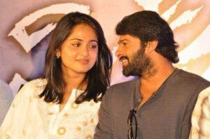 Prabhas with his girlfriend Anushka