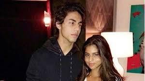 Suhana Khan with her brother Aryan