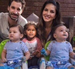 Sunny Leone with her husband & kids