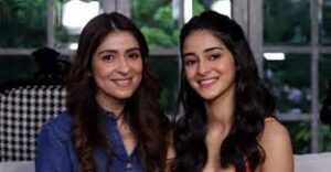 Ananya Pandey with her mother