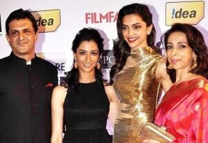 Deepika Padukone with her family