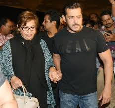 Salman Khan with his step-mother Helen