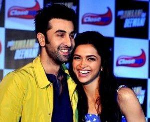 Deepika Padukone with her ex-boyfriend Ranbir Kapoor