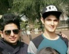 Rohan Mehra with his brother