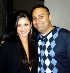 Sunny Leone with her ex-boyfriend Russell