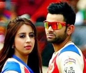 Virat Kohli with his ex-girlfriend Sanjana