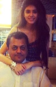 Sanjana Sanghi with her father