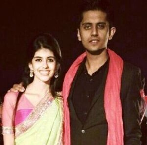 Sanjana Sanghi with her brother