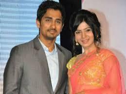 Samantha Akkineni with her ex-boyfriend Siddharth