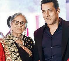 Salman Khan with his mother Sushila