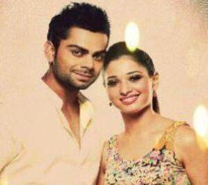 Virat Kohli with his ex-girlfriend Tamannah