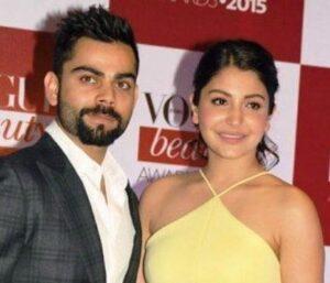 Virat Kohli with his wife