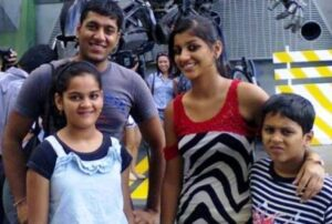 Yashika Anand with her brother & sisters