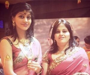 Yashika Anand with her mother
