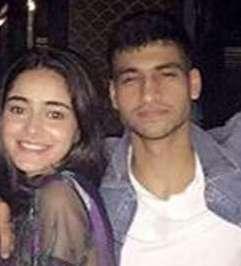Ananya Pandey with her boyfriend