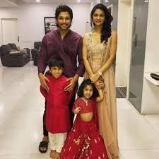 Allu Arjun with his wife & kids