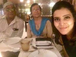Samantha Akkineni with her parents