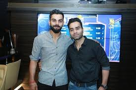 Virat Kohli with his brother