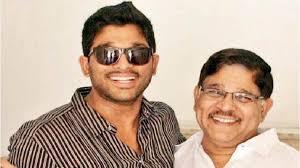 Allu Arjun with his father