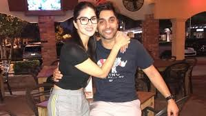 Sunny Leone with her brother