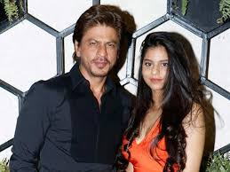 Suhana Khan with her father