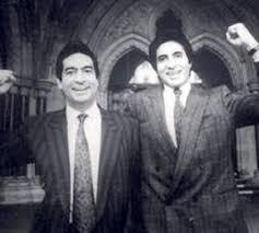 Amitabh Bachchan with his brother