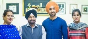 Diljit Dosanjh with his family