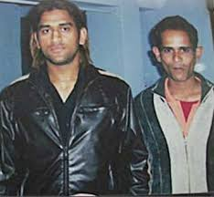 Mahendra Singh Dhoni with his brother
