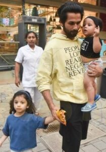 Shahid Kapoor with his kids
