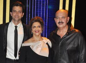 Hrithik Roshan with his parents
