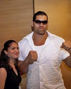 The Great Khali with his wife
