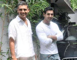 John Abraham with his brother