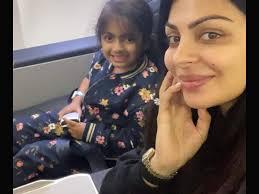 Neeru Bajwa with her daughter Aanaya