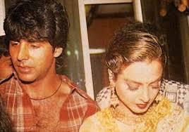 Rekha with her ex-boyfriend Akshay