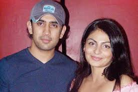 Neeru Bajwa with her ex-boyfriend Amit