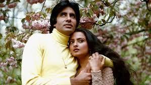 Rekha with her ex-boyfriend Amitabh