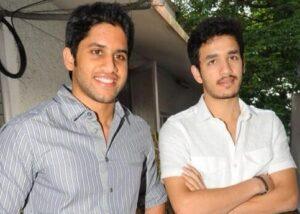 Akhil Akkineni with his brother